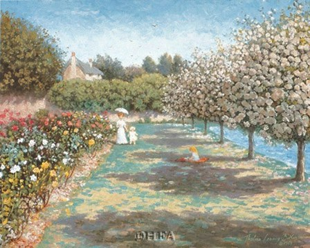 In the Rose Garden by Thelma leaney Butler art print
