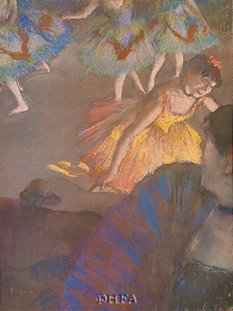 Ballerina and Lady with Fan by Edgar Degas art print