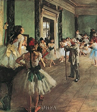 Dancing Class by Edgar Degas art print
