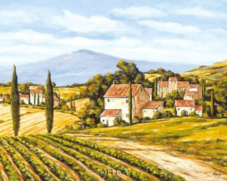 Road to the Vineyard by Charles Berry art print