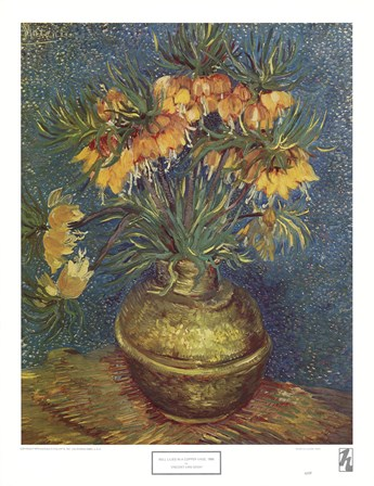 Bell Lilies in a Copper Vase by Vincent Van Gogh art print