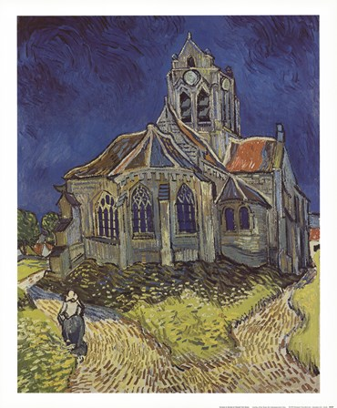 Church at Auvers by Vincent Van Gogh art print