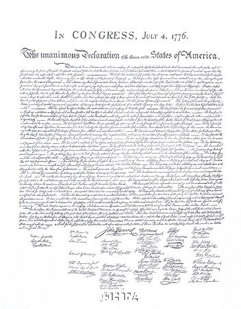 Declaration of Independence by Documents art print