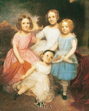 Adrian Baucker Holmes Children by Charles wesley Jarvis art print