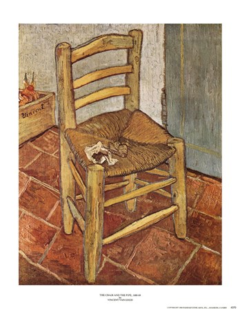 Van Gogh's Chair and Pipe, c.1888 by Vincent Van Gogh art print