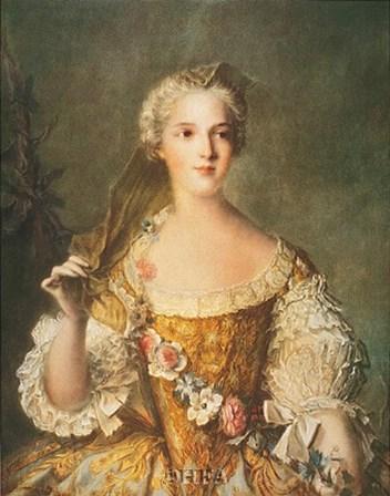 Madame Sophie de France by J.m. Nattier (d'apres) art print
