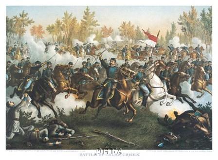Battle of Cedar Creek by Kurz and Allison art print