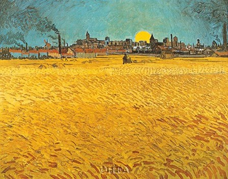 Cornfields Near Arles by Vincent Van Gogh art print