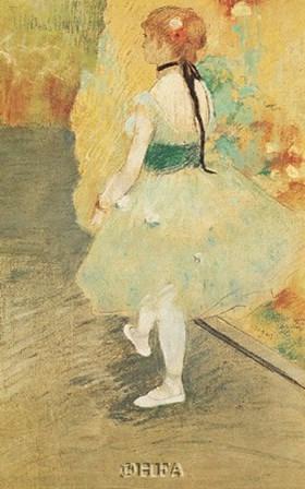 Dancer in Green by Edgar Degas art print