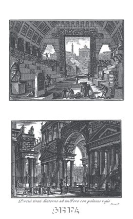 Portico by Francesco Piranesi art print