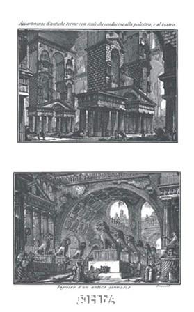 Teatro & Ginnasio by Francesco Piranesi art print