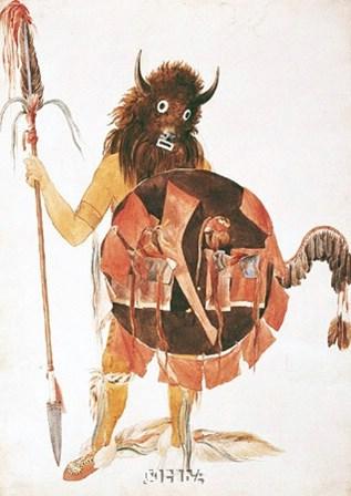 Leader of Mandan Buffalo Bull Society by Carl Bodmer art print