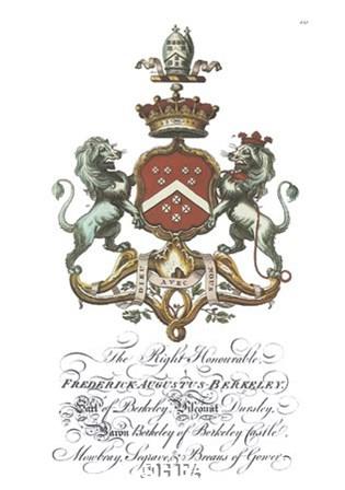 Coat of Arms-Frederick Augustus Berkeley art print