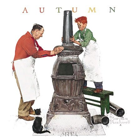 Coal Season's Coming by Norman Rockwell art print