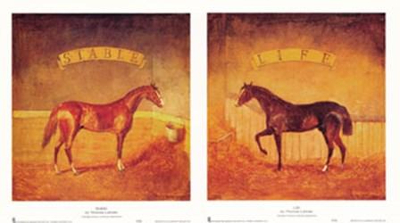 Stable Life (Set of Two) by Thomas LaDuke art print