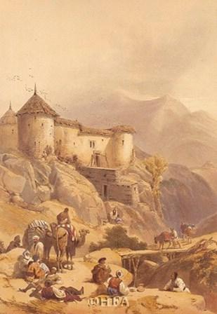 Hill Fort of Ghulab Sinj by David Roberts art print