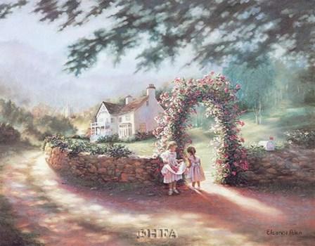 The Rose Arbor by Eleanor Polen art print