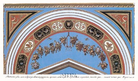 Detail/Loggia in the Vatican I by Raphael art print