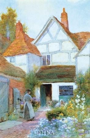 Cottage Garden by C. Strachan art print
