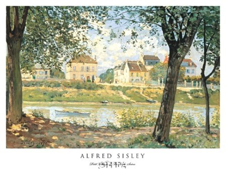 Petit Village de Bords de Seine by Alfred Sisley art print
