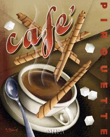 Cafe Pirouette by Michael Kungl art print