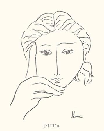 Woman's Face Sketch I by Simin Meykadeh art print