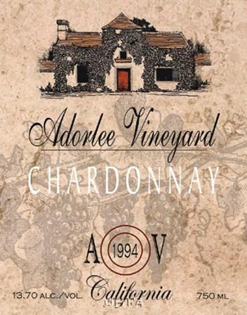 Adorlee Vineyards by Ralph Burch art print