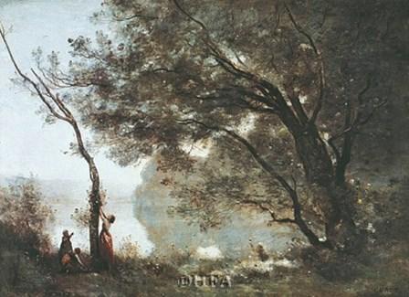 Souvenir de Mortefontaine by Jean-Baptiste Camille Corot art print