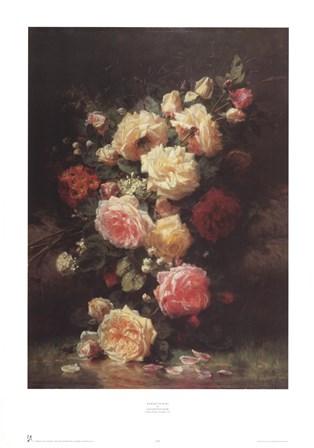 Bouquet de Roses by Jean-Baptiste Robie art print