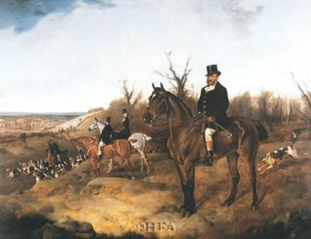 Beaufort Hunt by J.a. Wheeler art print