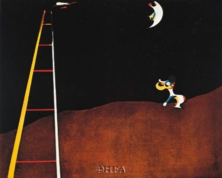 Dog Barking at the Moon by Joan Miro art print