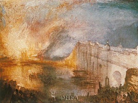 Burning of the Houses of Parliament by J.M.W. Turner art print