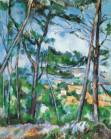 Landscape Near Aix by Paul Cezanne art print
