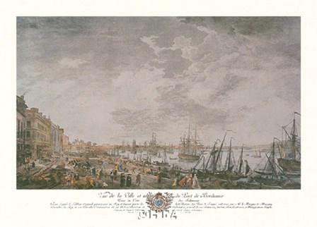 Vue de la Ville et du Port de Bordeaux by Joseph Vernet art print