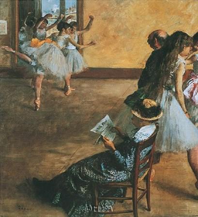 Ballet Class by Edgar Degas art print