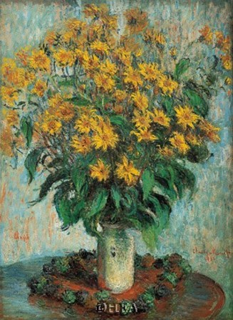 Vase of Chrysanthemums by Claude Monet art print