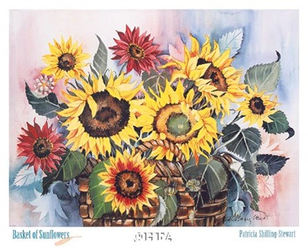 Basket of Sunflowers by Patricia Shilling-Stewart art print