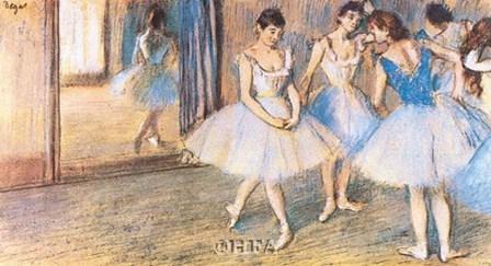 Dance Greenroom by Edgar Degas art print