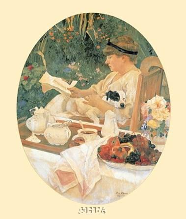 Le The dans le Jardin by Leon Carre art print