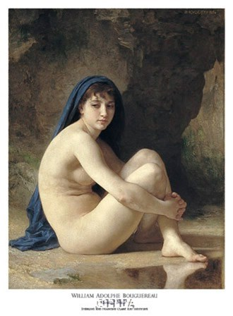 Seated Nude by William Adolphe Bouguereau art print