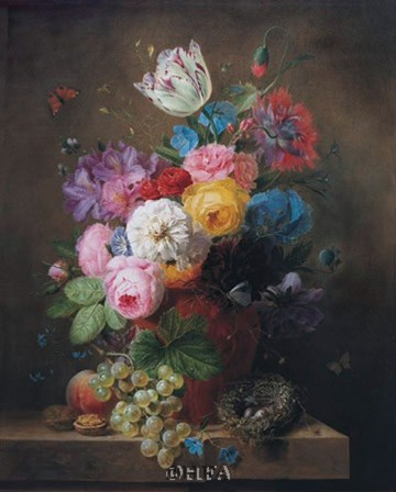 A Rich Still Life of Roses by Arnoldus Bloemers art print