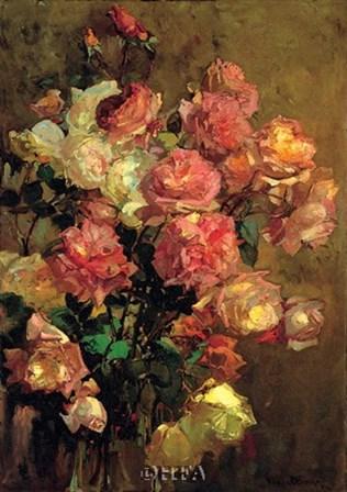 Roses by Franz Bischoff art print