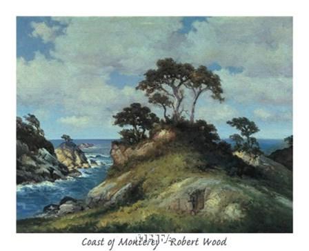 Coast of Monterey by Robert Wood art print