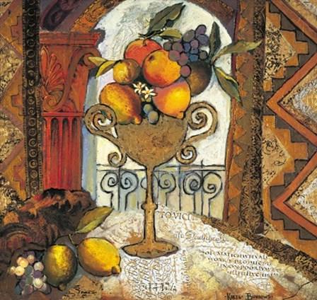 Golden Kilim I by Karel Burrows art print