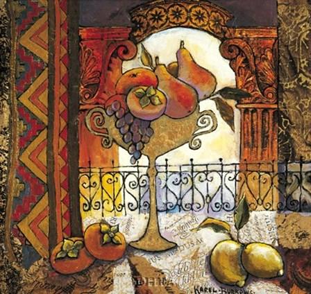 Golden Kilim II by Karel Burrows art print
