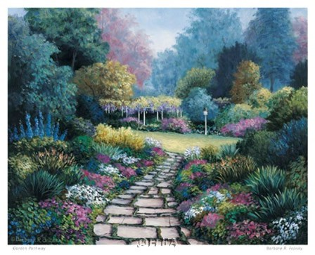 Garden Pathway by Barbara Felisky art print