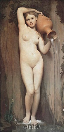 The Spring by Jean-Auguste-Dominique Ingres art print