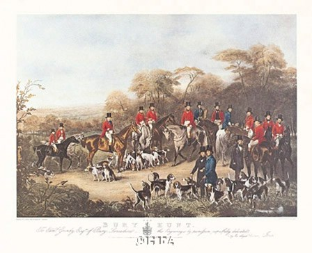 The Bury Hunt by C. & J. Agar & Maiden art print