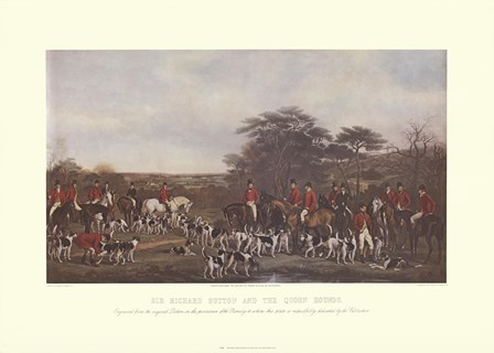 Sir Richard Sutton and the Quorn Hounds by Francis Grant art print