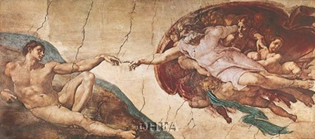 Creation of Man by Michelangelo Buonarroti art print